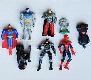 Batman Superman Spiderman Action Figures Marvel & DC Comics Super Hero Lot Of 8