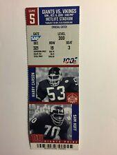 New York Giants vs Vikings Oct 6, 2019 ticket stub