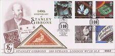 DELONG BENHAM SETA COVER FDC 140th anniversario della Stanley Gibbons SETA Triangolo COGH