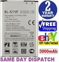 Compatible LG Vista2 BL-51YF Rechargeable Li-ion Phone Battery 3.85V Typ 3000mAh