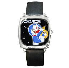 Anime Doraemon Music of life Leather wrist watch