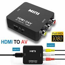 1080P HDMI to AV Adapter Converter Box Cable CVBS 3RCA Composite Video Audio NEW