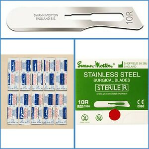 10pcs Swann Morton 10R Sterile Scalpel Blades Dermaplaning Dermal Vellus Hair