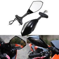 LED Clignotant Moto Rétroviseurs Rear View Miroirs pour Honda Yamaha Suzuki