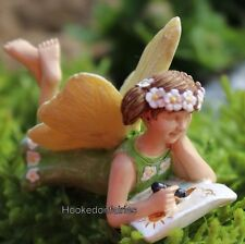 Fairy Ellie w Coloring Book WS 1686 Miniature Fairy Garden