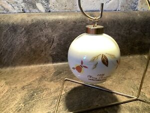 Hall Jewel Tea Autumn Leaf Christmas Ornament W/ Stand 1998