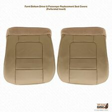 2001 F250 F350 Lariat Crew Driver & Passenger Side Bottom Leather Seat Cover TAN