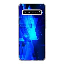Funda gel dibujo geometrías azules para Samsung Galaxy S10 5G