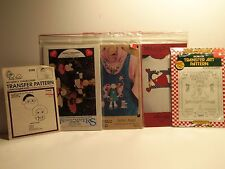 Lot of 5 Christmas Craft and Applique Patterns
