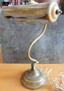 ancienne Lampe d' atelier articulé en laiton cuivre 1930 Signée Monix à Paris