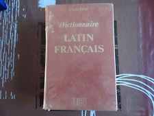 ANCIEN DICTIONNAIRE LATIN FRANCAIS F. GAFFIOT HACHETTE