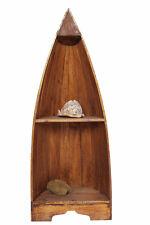 Holz Bootsregal Regal Boot Bootsform maritim hellbraun 95cm