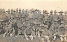 RPPC Military Training Camp, Plattsburg, NY WWI Soldiers 1916 Vintage Postcard