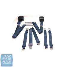 1978-88 GM G Body Cars Factory Style Front Bucket Seat Belts - Pair - Light Blue