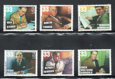 Sc#3339 - 3344 - 33c Hollywood Composers Set of 6 Singles Mnh