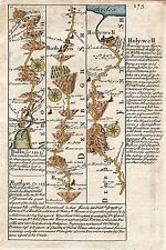 Antique map, Road from St. Davids to Holywell (2)