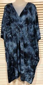 Brand New  Kaftan top / Dress Grecian Style plus size fits 24-34 100cm length