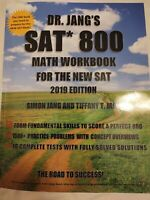 Dr. Jang's SAT 800 Math Workbook for the New SAT 2019 Edition, Like New