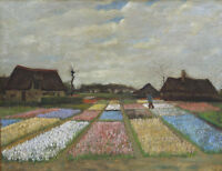 Vincent van Gogh Flower Beds in Holland Art Print Canvas Home Decor Small 8x10