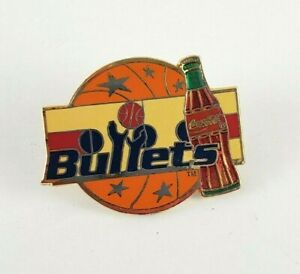 Vintage NBA Properties 1994 Coca Cola Basketball Washington Bullets Pin RARE HTF