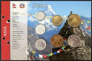 3.NEPX01 - COINSET NEPAL - 7 pièces 10 paisa à 10 roupies