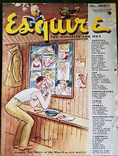 Esquire Magazine November 1945 with Varga Gatefold Ad for Martin Aircraft