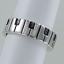 Sterling Silver 925 Music Keyboard Piano Key Adjustable Toe Ring Design