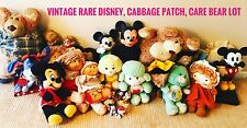 Vintage Toys Lot Vintage care bear, mickey mouse, disney, paddington bear