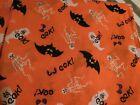 Eek! Halloween Fabric Bats Ghosts Skeletons 2 Yards