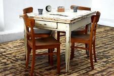 Essgruppe ausziehbar Antik Alt Tisch + 4 Stühle Holz Antik Vintage Alt Art Deco