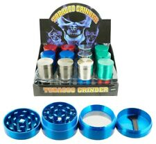"1.5"" Tobacco Herb Grinder Spice Herbal 4 Pc Metal Chromium Alloy Smoke Crusher"