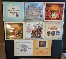 Lot 8 Vintage Lord of the Rings Lotr Art Calendars 1975-1982 Tolkien Hildebrandt
