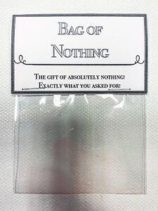 Bag of Nothing Funny Novelty Joke Christmas Gift Secret Santa Stocking filler