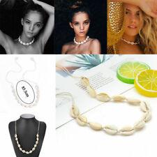 Women Fashion Beach Bohemian Sea Shell Pendant Chain Choker Necklace Jewelry