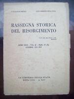 1935 RASSEGNA STORICA DEL RISORGIMENTO FORLIVESI IN CORSICA LUIGI MERCANTINI....