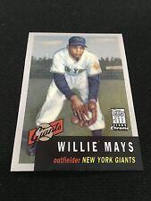 WILLIE MAYS INSERT 1953 TOPPS CHROME GIANTS 3 OF 50 REPRINT 2000 BASEBALL CARD