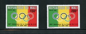 A130 Mali 1994 Olympique Committee 2v. MNH