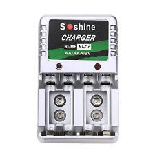 Ladegerät für AA/AAA/9V/Ni-MH/Ni-Cd Wiederaufladbare Batterien Battery Charger