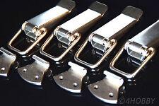 4x Edelstahl Spannverschluss 130mm Kistenverschluss Kisten/Box-Hebel-Verschluss