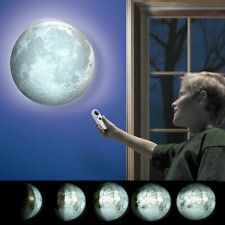 Lampada a Forma di Luna da Parete Luce Notturna LED Fasi Lunari con Telecomando