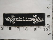 Sublime Black White Tribal Logo Ska Punk 1990s Embroidered Iron On Patch