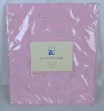 Pottery Barn Kids Pale Pink Eyelet Valance Pole Pocket Window Valance 18 x 44""