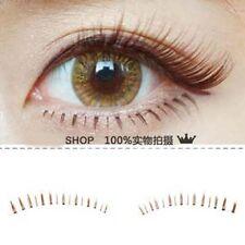 01) Natural Brown/Black Lower Bottom False Eyelashes long thin lashes School Hot