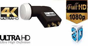 70dB High Gain  Quad LNB HG404 von B.E.S.T.- Germany Full-Ultra HD