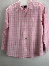 Woman Wrangler Western Shirt  Top  9J1031 Sz XXL Pink Plaid