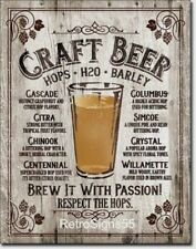 Craft Beer Picture Poster Metal Tin Ad Sign Brewing Brewery Bar Pub Cave Gift