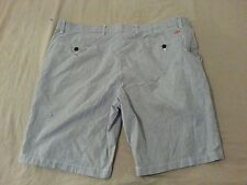 Mens Dockers Shorts 42 Blue Stripes Cotton Khaki