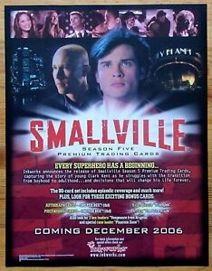Smallville Season Five 5 trading cards dealers promotional sell sheet 2006
