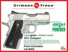 CRIMSON TRACE Green Lasergrips for 1911 Compact - Front Activation - LG-404G