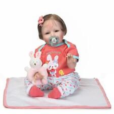 """22"""" Real Lifelike Reborn Baby Doll Realistic Looking Silicone Baby Girl Toddler"""